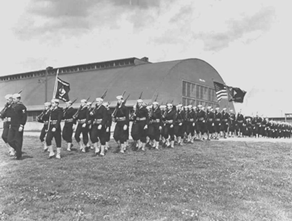 Boots training at Sampson Naval Training Station, 1943