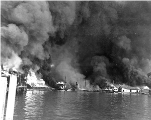 Fires at Cavite Navy Yard, Philippine Islands, resulting from the 10 Dec 194