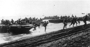 Marines land on Guadalcanal
